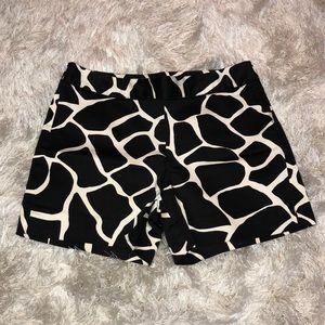 White House Black Market animal print shorts